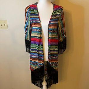 Kimono style Multicolored Tunic
